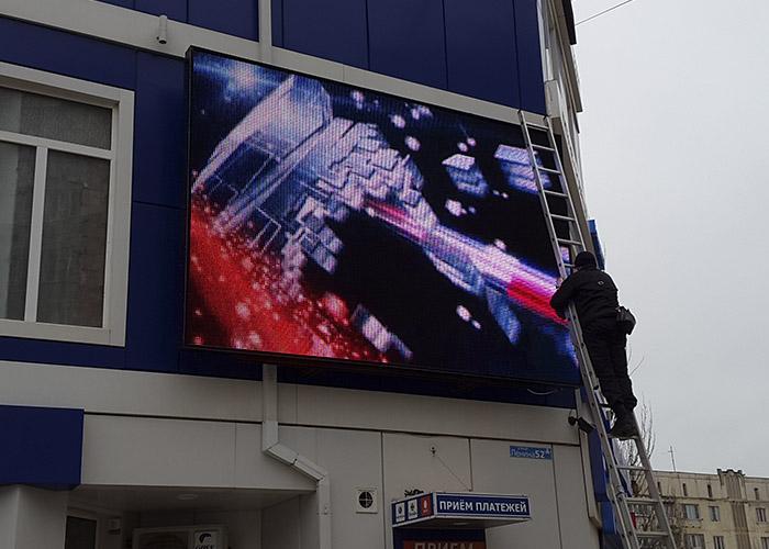 Качества и применение видеовывесок